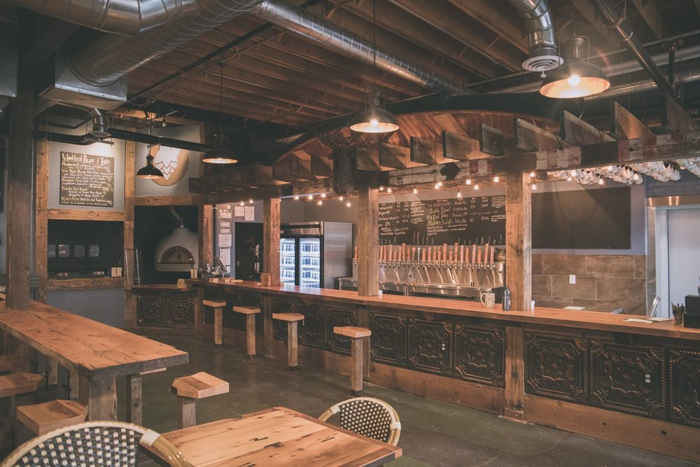 The bar and the wood-fire oven. Photo courtesy: Ursa Minor Brewing