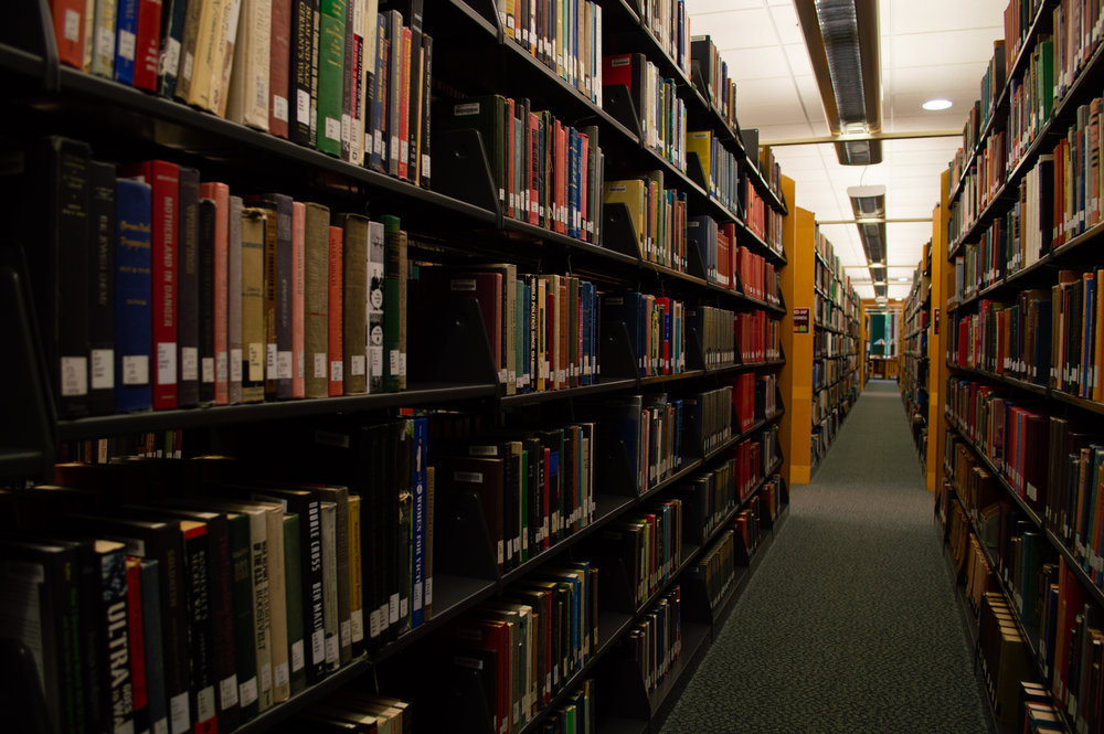 The library is working alongside the UMD bookstore to obtain as many free and low-cost course materials for students. Photo by Jake Barnard
