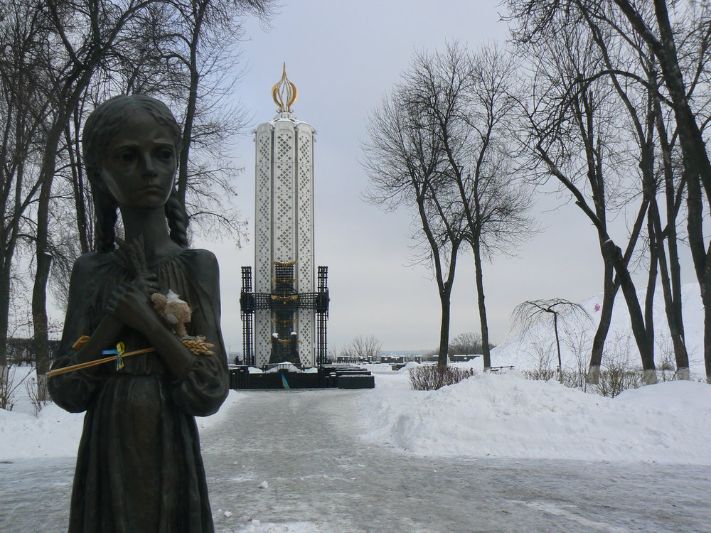 "Statue known as ""Bitter Memory of Childhood"" outside of the National Museum commemorates the victims of Holodomor in Kiev. Photo courtesy of Wikimedia Commons"