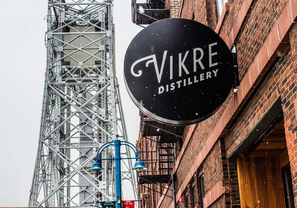 The Vikre Distillery is located in Canal Park just next to the iconic life bridge. Photo by Justin Flesher