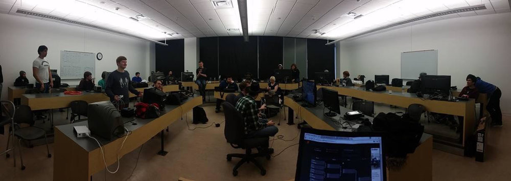 Panoramic shot of recent club event, courtesy of Nathan Johnson