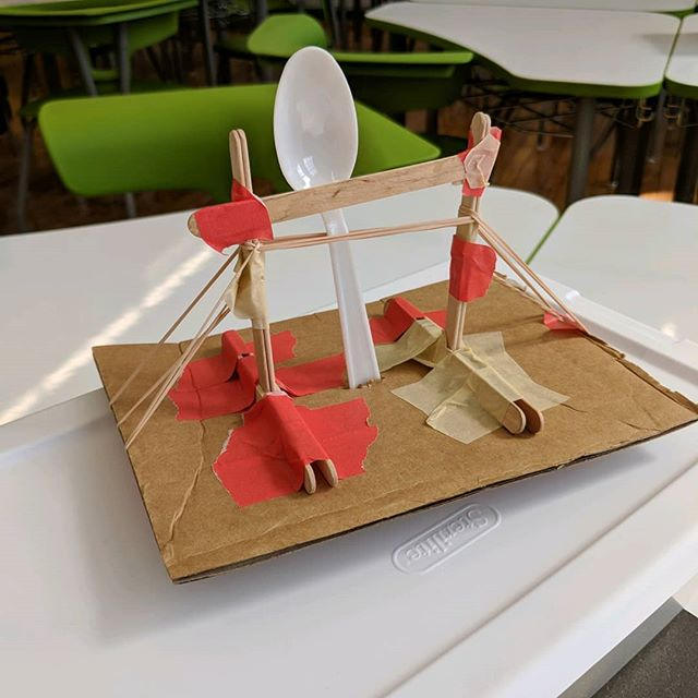 The winning catapult in #Physics. #compsci_high