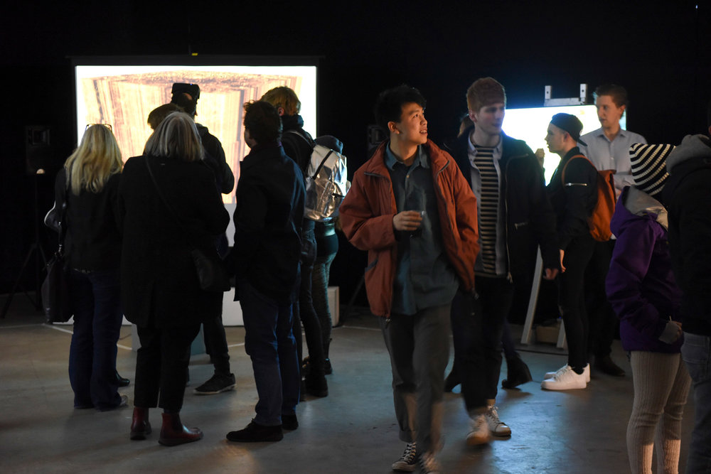 We installed the Lumen Prize Exhibition in a series of meanwhile spaces across Leeds Dock.
