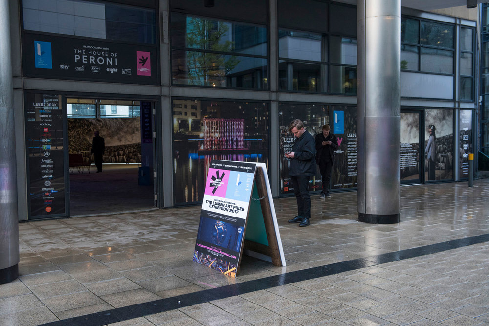 We designed and produced all the exhibition and window graphics for the show and worked with the brilliant  Rabbit Hole  Studio to create Leeds International Festival brand posters for the exhibition.