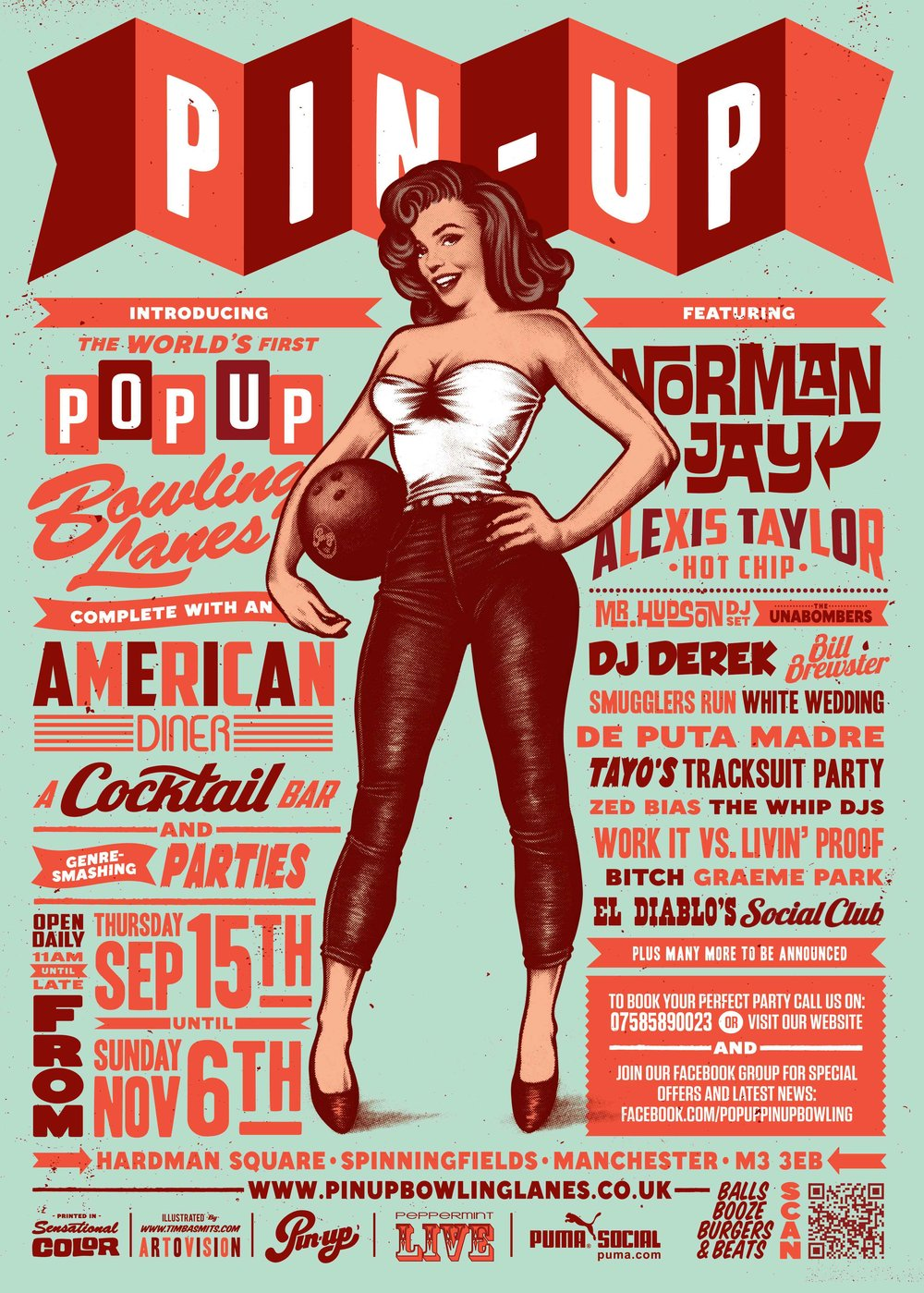 Award-winning illustrator, graphic designer and art director   Timba Smits   created the iconic Pin-up brand and aesthetic.