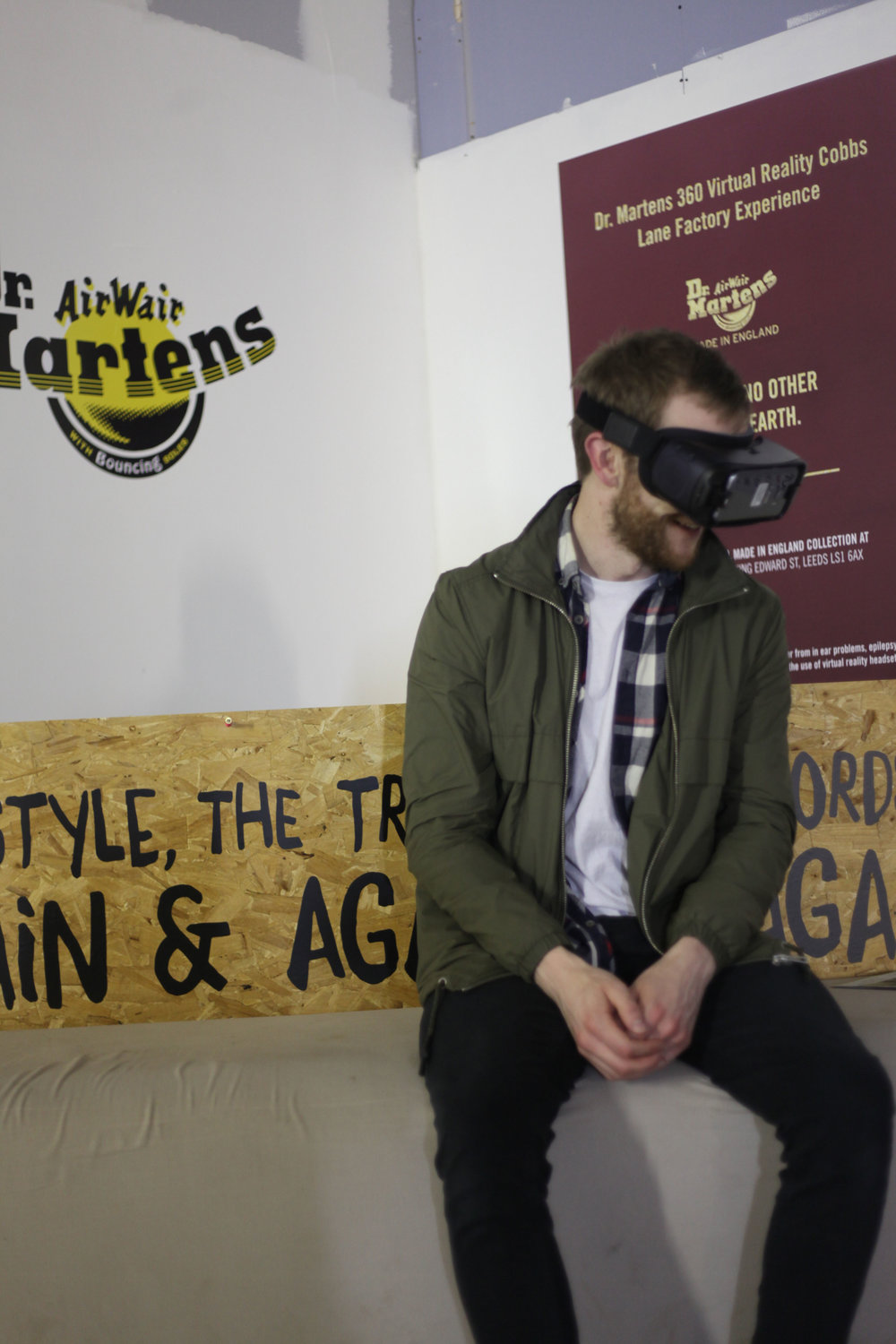 We approached Dr. Marten's, a staple subculture fashion accessory, and invited them to bring their recently launched VR experience to Leeds allowing visitors to step inside the famous DM factory and see how the legendary boots are produced.