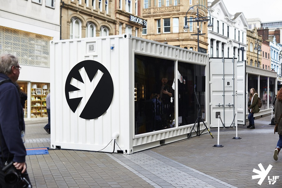 As part of the Leeds International Festival's (LIF) Fringe Fashion In Leeds programme we took over the Fashion Space containers on Briggate, Leeds prominent shopping street..