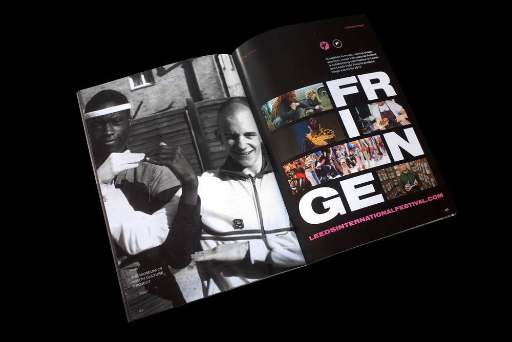 'Unity Through Subculture' was part of the Leeds International Festival's (LIF) Fringe events and came under the Fashion In Leeds programme. Gavin Watson's imagery was used prominently in LIF promotional materials.
