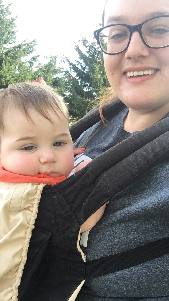 Baby wearing lets me do my pet sitting appointments with a baby!