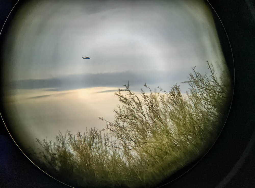 Border Patrol helicopter, Picacho, AZ