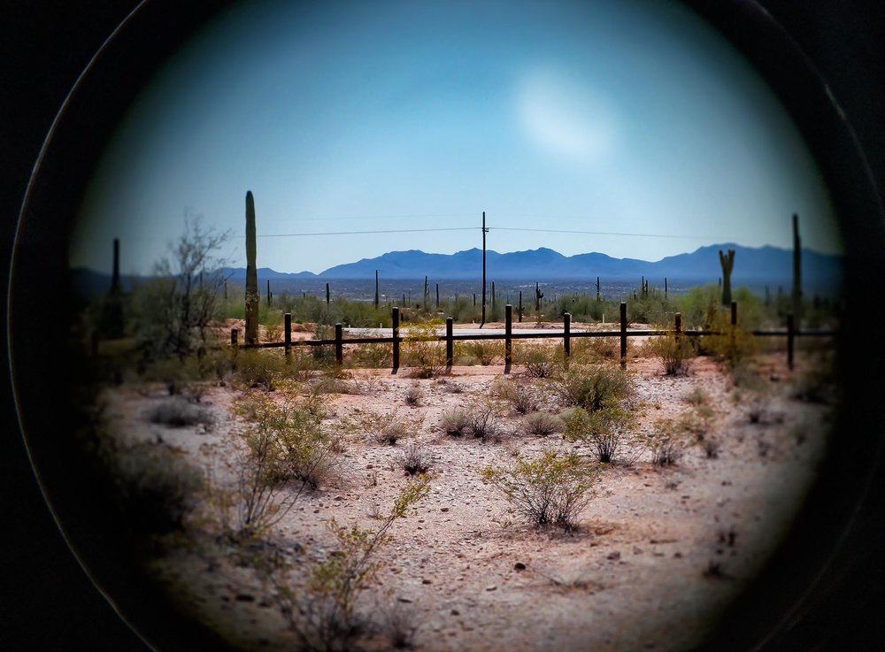 Low border fence, Sonoyta, Mexico