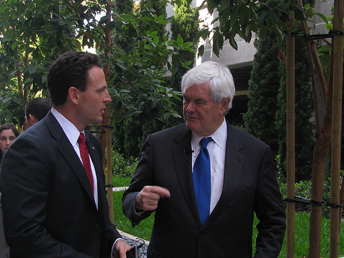 Talking strategy with former Speaker of the House Newt Gingrich