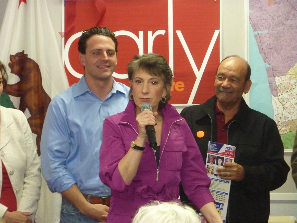 Campaigning against Barbara Boxer with Carly Fiorina