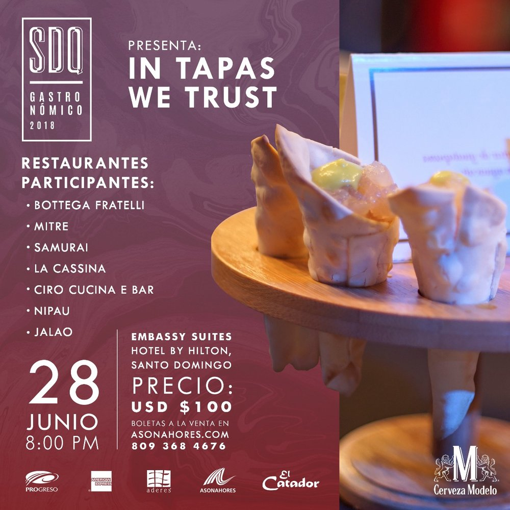 J U N I O  28  - SDQ Restaurant Week - Santo Domingo