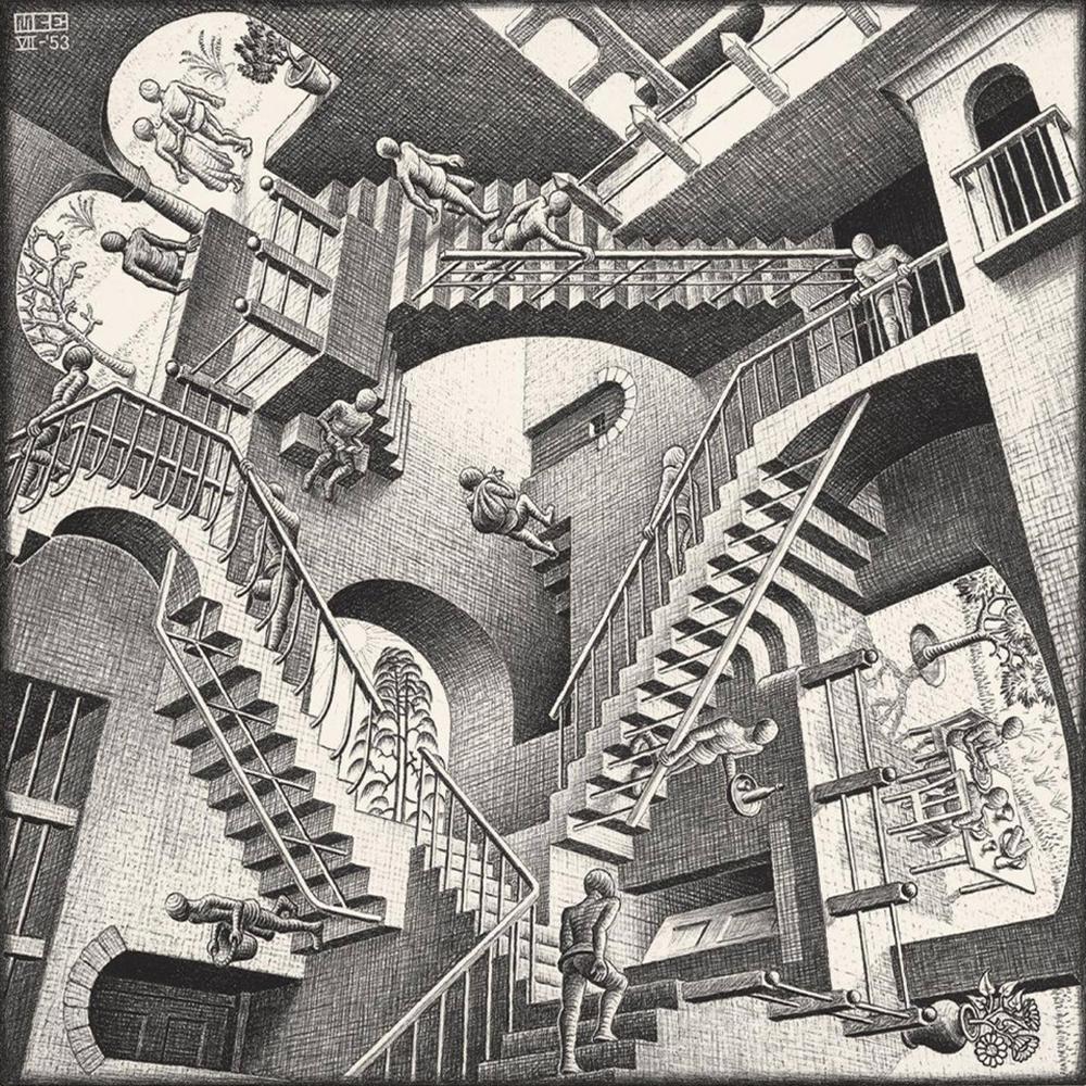 M.C. Escher's  Relativity  Lithograph 1953