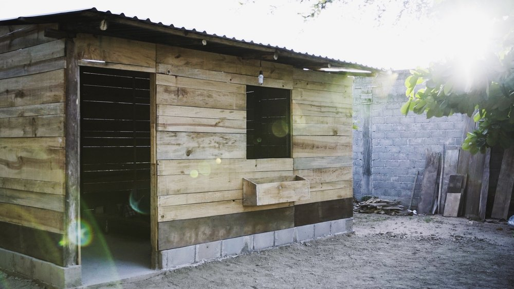 actual home built in Asuncion de Ixtaltepec.  Made of concrete blocks and Pine wood
