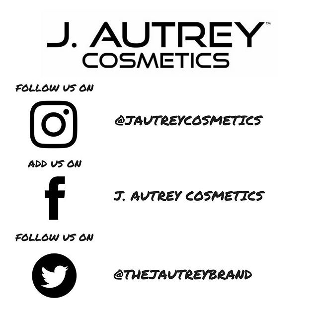 Keep in touch with us on every social media account! Follow us, retweet us, like us! We appreciate the support. 😘 #jautreycosmetics
