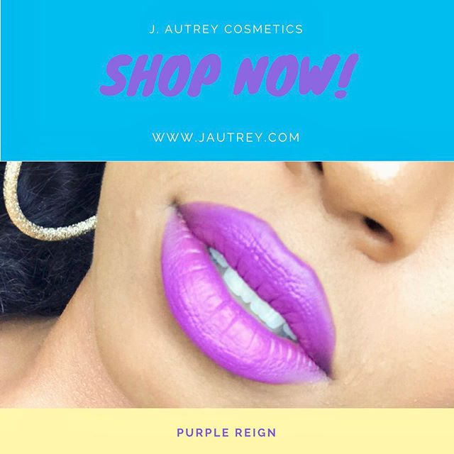 Purple Reign is back! Get your lipstick before it runs out, again! www.jautrey.com #jautreycosmetics