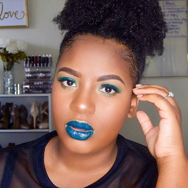 "@jackie_annette x Serpent  Want to know how to get this look? Check out her ""Green Glam Makeup Tutorial"": https://youtu.be/l19FctNnugo #jautreycosmetics"