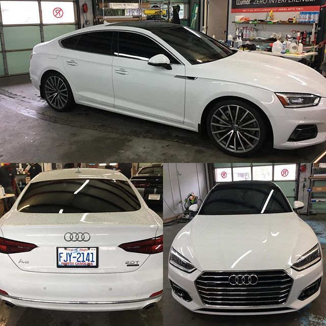 Kerry made sure this Audi A5 came out perfect. Full Ceramic (CTX) tint and AirBlue80 from LLumar Window Film will protect the passengers from heat and 99% of harmful UVA/UVB. Brenden's car is one clean machine!  Veteran Owned and Veteran Operated Call us for your tinting needs 910-506-8468 (TINT) www.InvictusAA.com @llumarcanada @llumarfilms @audi @audi.followers #audia5 #veteranowned #veteranownedbusiness #vetrepreneur #veteranownedsmallbusiness #audilover