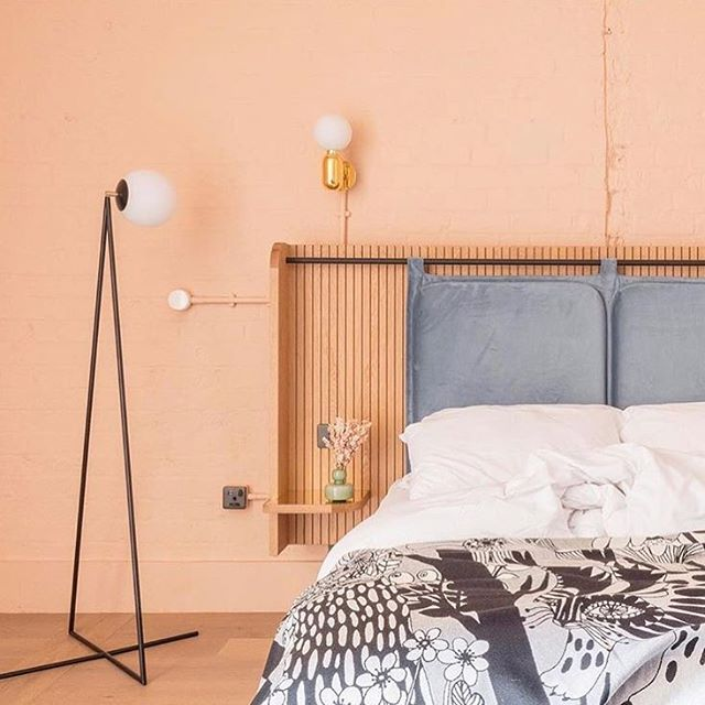Hospitality be lookin funky fresh these days! Crushing on this room design by @lockehotels in Manchester 🌷 #AllYouNeedIs #MinimalVibes #FunkyFresh