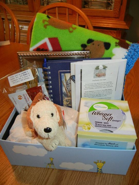 Sample of Boy Memory Box.  More photos below.