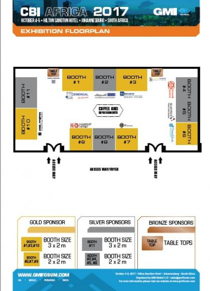 Exhibition floor plan