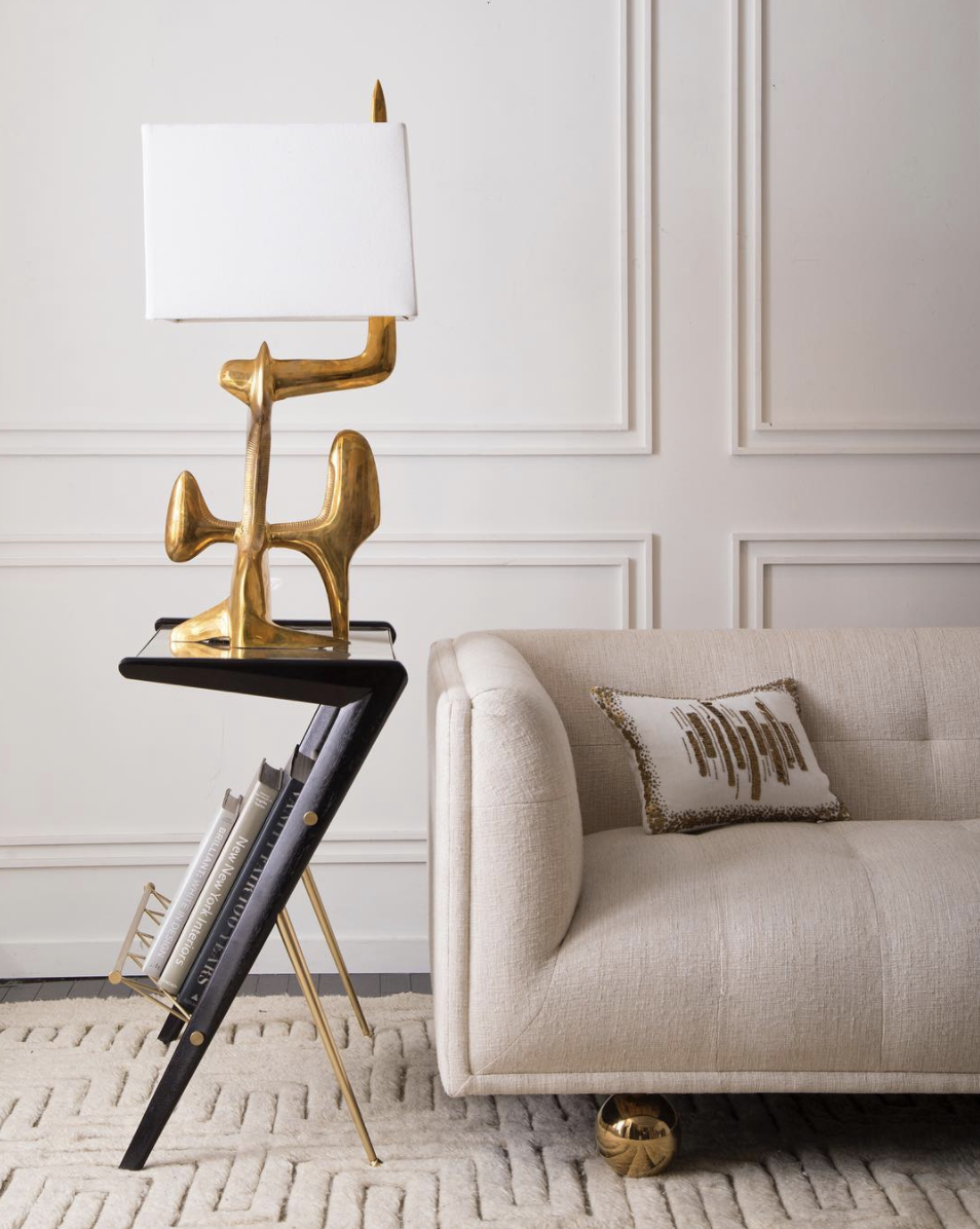 Source . Jonathan Adler is always an amazing resource for metallics inspiration.