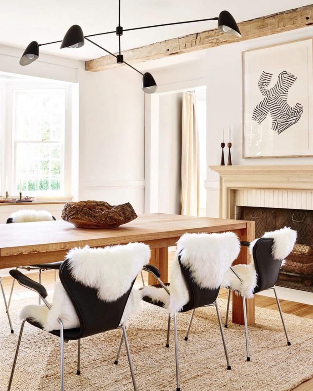 Source   . Dreamy dining room and I love that print.