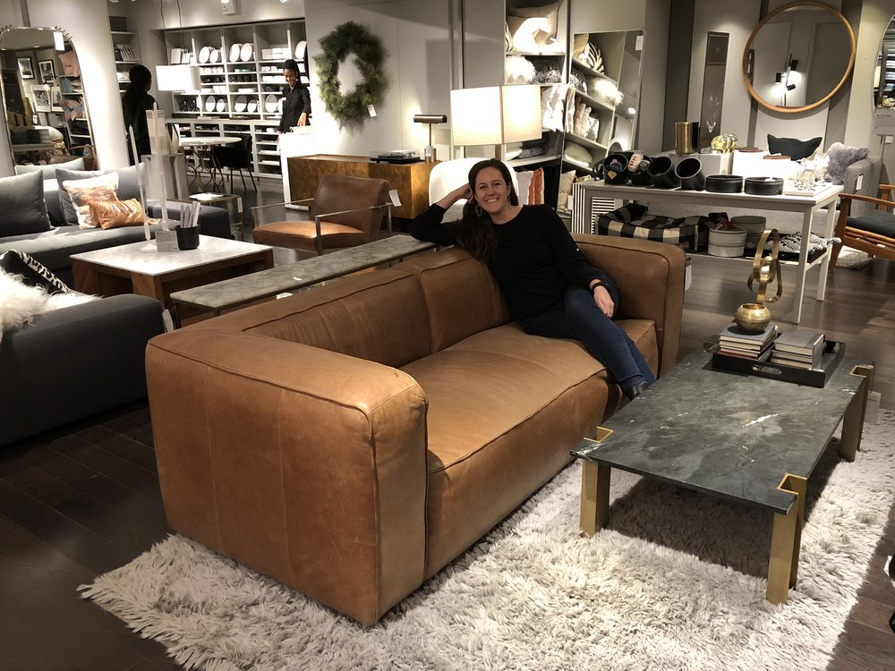 I love the Lenyx sofa from CB2! If only it wasn't so big.