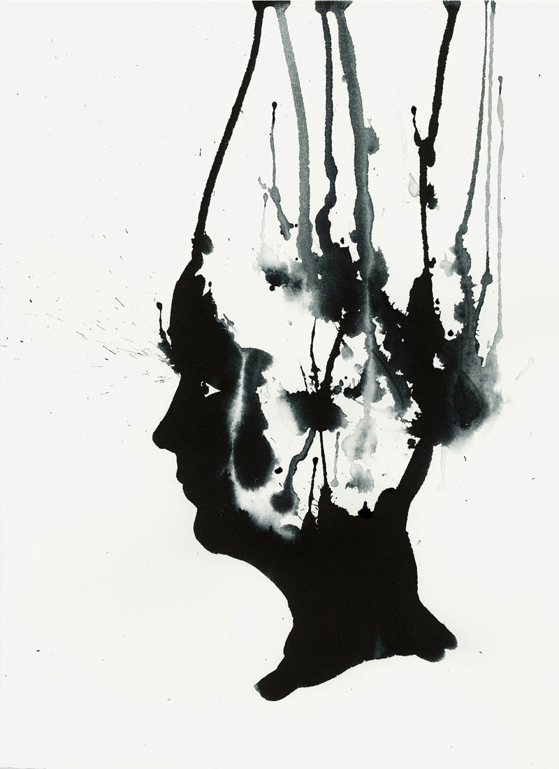 Ink Face 12 - 11X15 - 2014