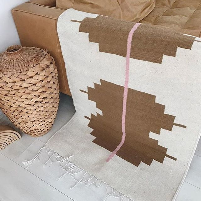 The Efrin Rug looking beautiful in the home of @bohemegoods • 100% of profits of this rug go towards the much needed cancer treatments for the 15 year old daughter of the rug makers. This family currently has extra financial needs this week and we are so pleased to be able to provide for them through your generous purchases 💛