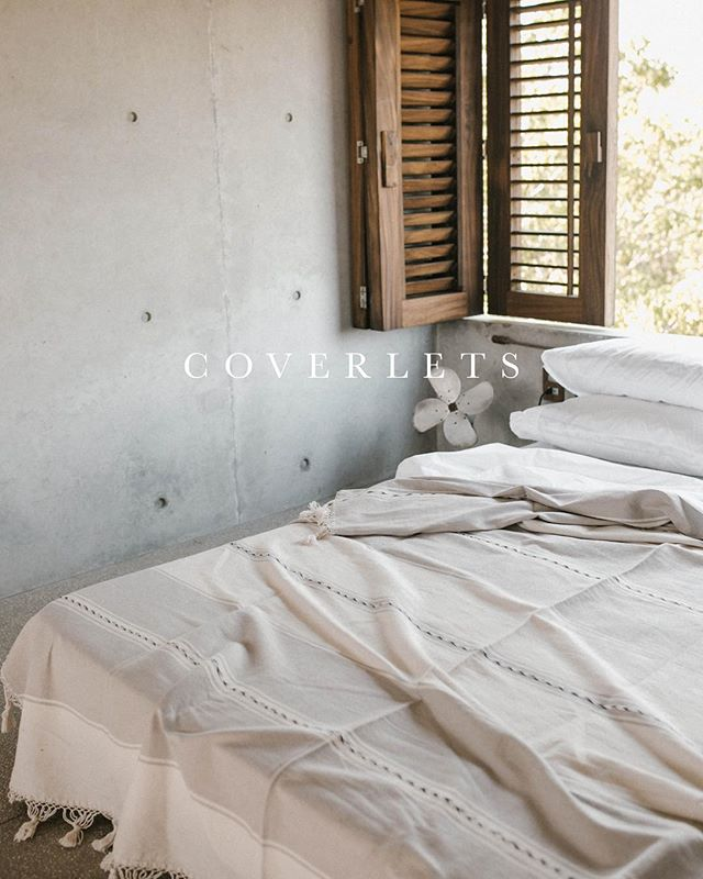 Just in time for warmer nights, coverlets will be back in stock tomorrow! They will be online at 9AM PST.