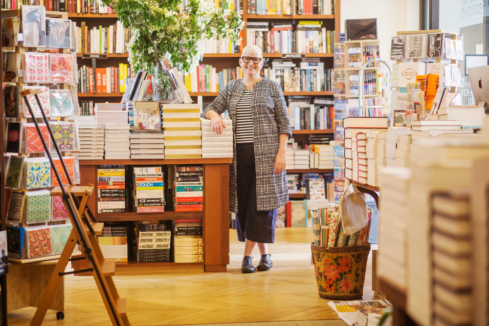 Anna Low, Potts Point Bookshop owner & bookseller | photo by Dean Tirkot