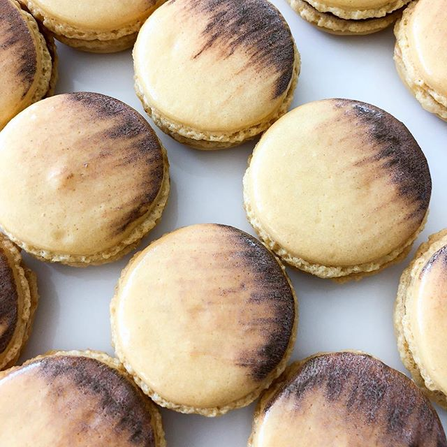 A lot of love goes into each one of our French macarons! Come try these passion fruit beauties today at the boutique, we're open until 5pm 🙌