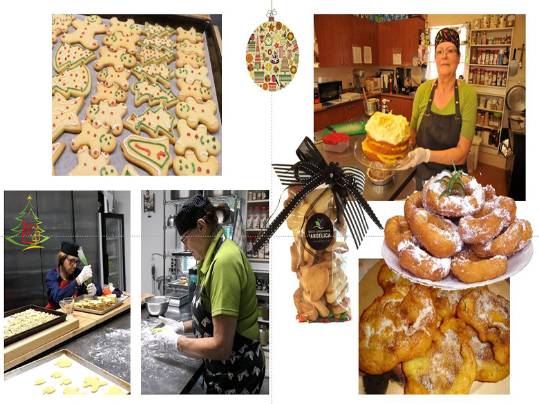 Francine dans la cuisine de transformation de Route Gourmande d'Angelica
