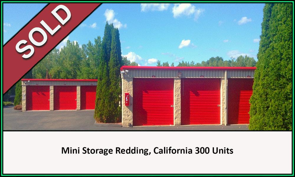 Sold Real Estate Mini Storage Redding California 300 Units