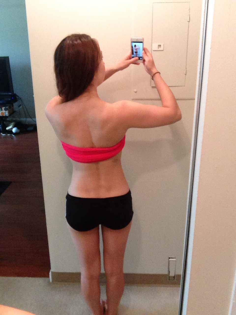 Jamie Eason Livefit Review - Before and After Progress Photo (back) Phase 3