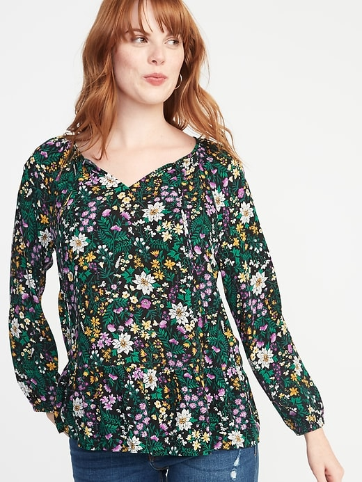 Pattern is too busy. Nice neckline though! © Old Navy