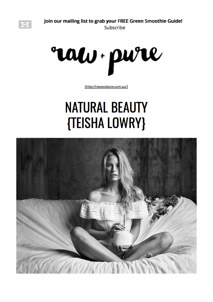 Natural Beauty {Teisha Lowry} | raw+pure.jpg