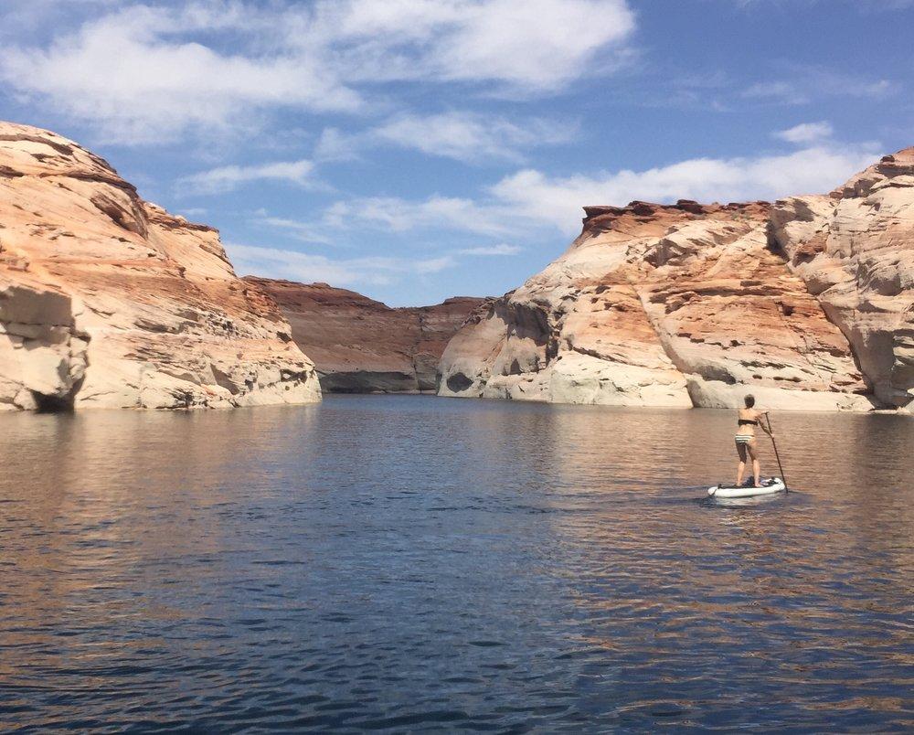 Paddling through Antelope Canyon