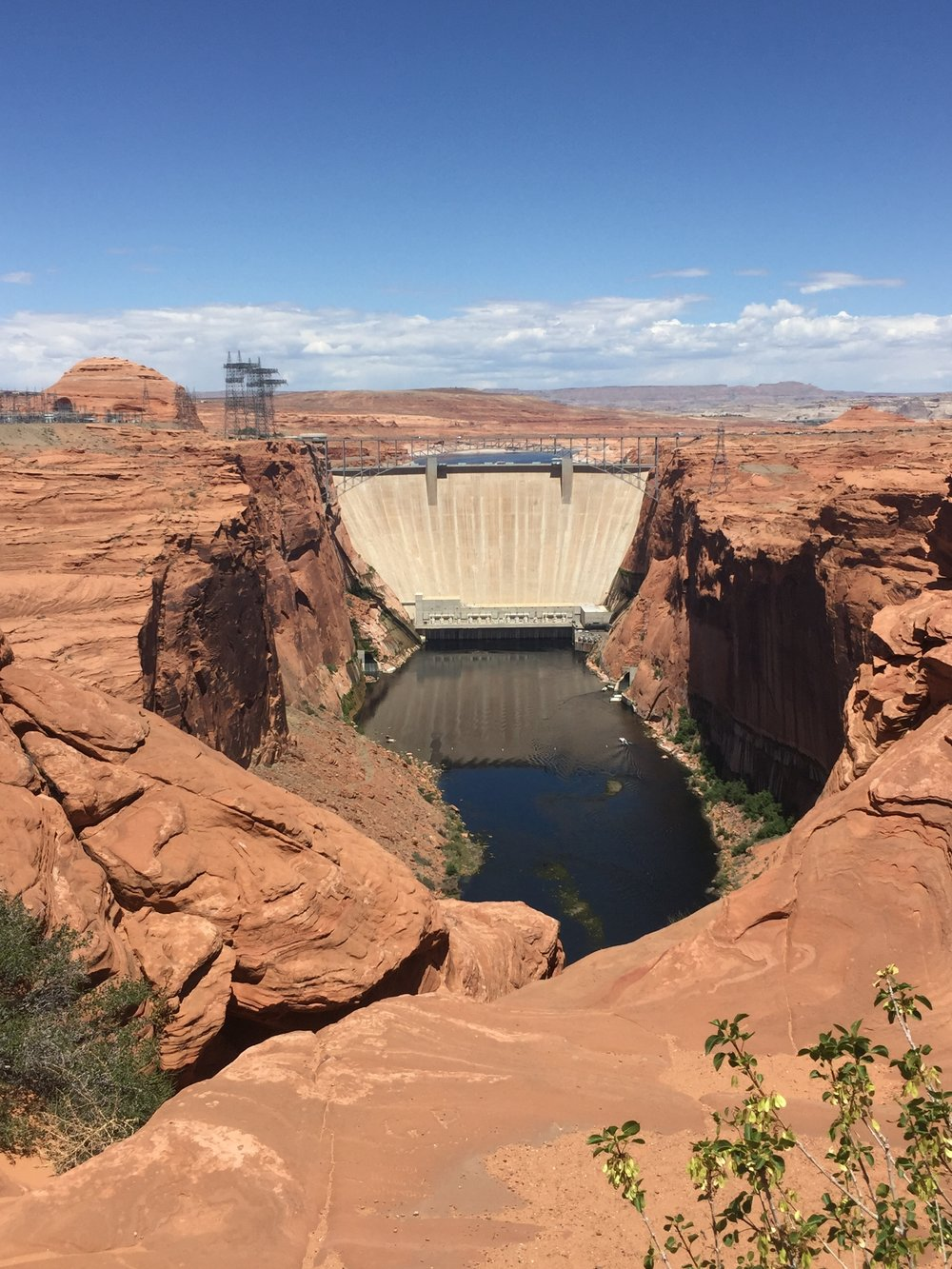 The view from Glen Canyon Dam Overlook