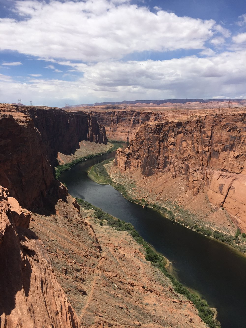 View of the Colorado River from the Glen Canyon Dam Overlook in Page, Arizona
