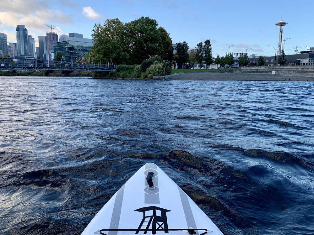 Rough waters on Lake Union