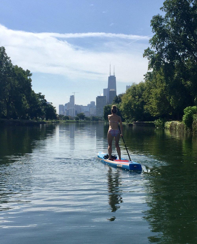 Paddling in Chicago