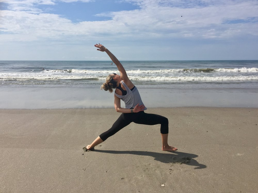 Beach yoga in South Carolina