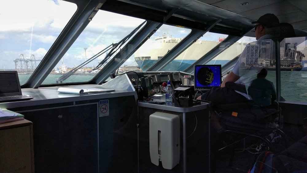 Glimpse into the so-called wheelhouse (or bridge)