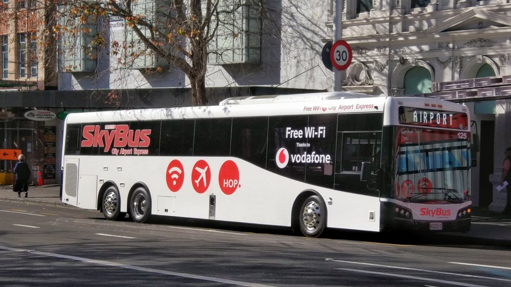 Skybus will bring you from Auckland airport to the city center