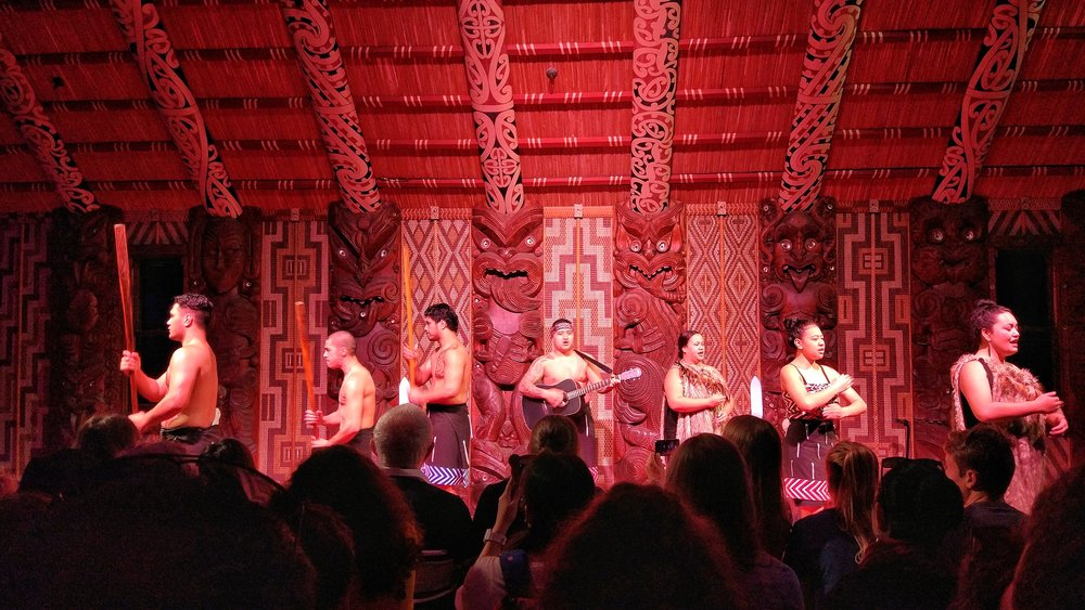Maori cultural show at the Waitangi Treaty Grounds, Bay of Islands