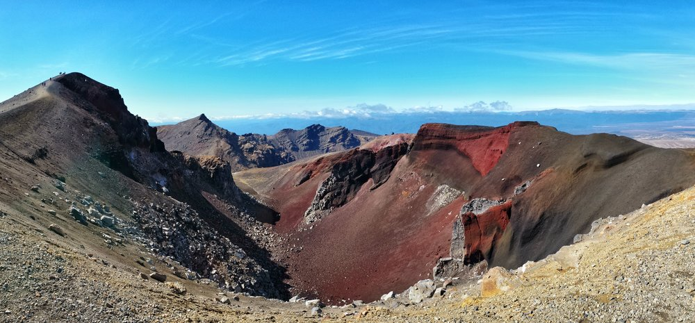 Congratulations, you made it to Red Crater, the highest spot on the crossing!